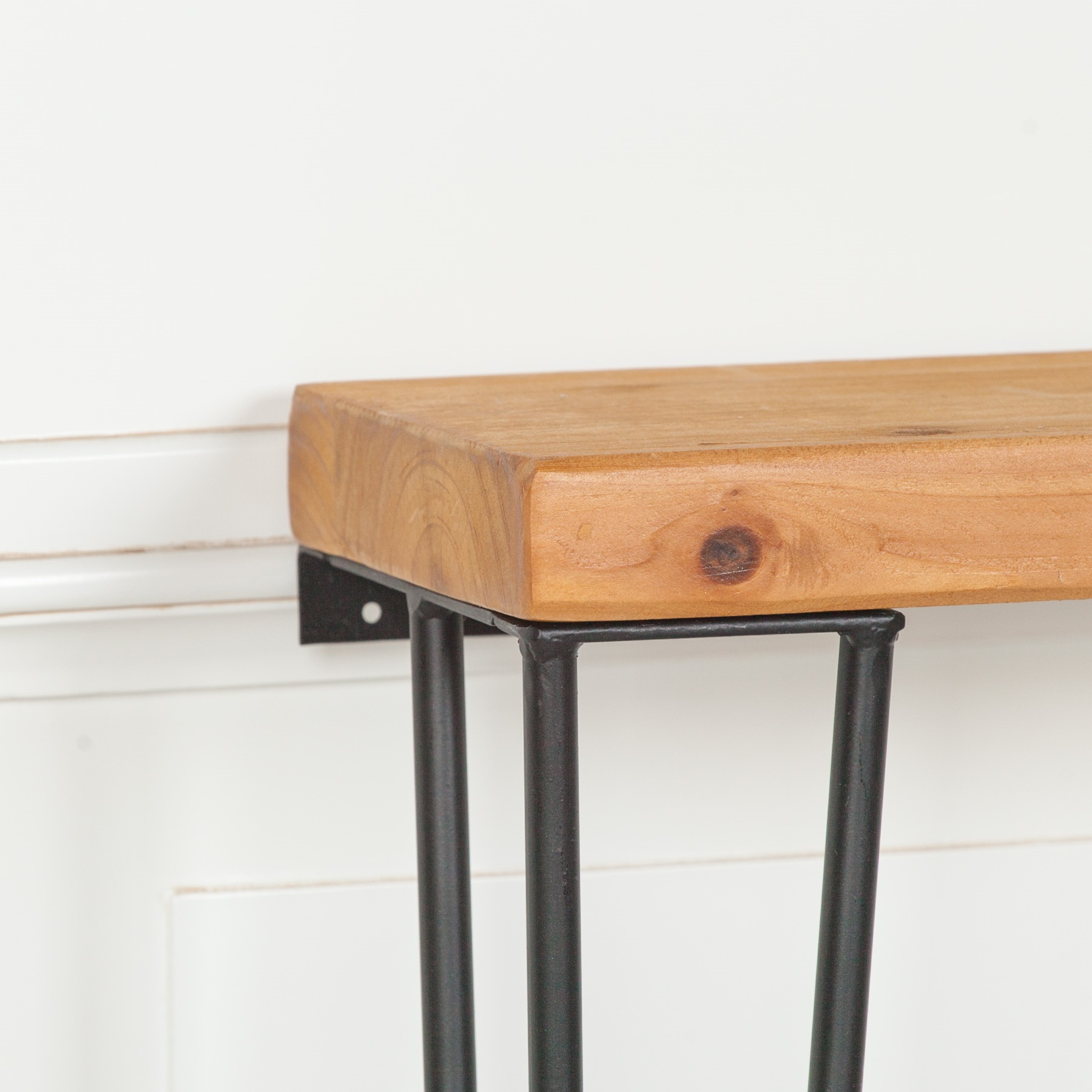 Rustic Wooden Hairpin Hall Table Console 77cm