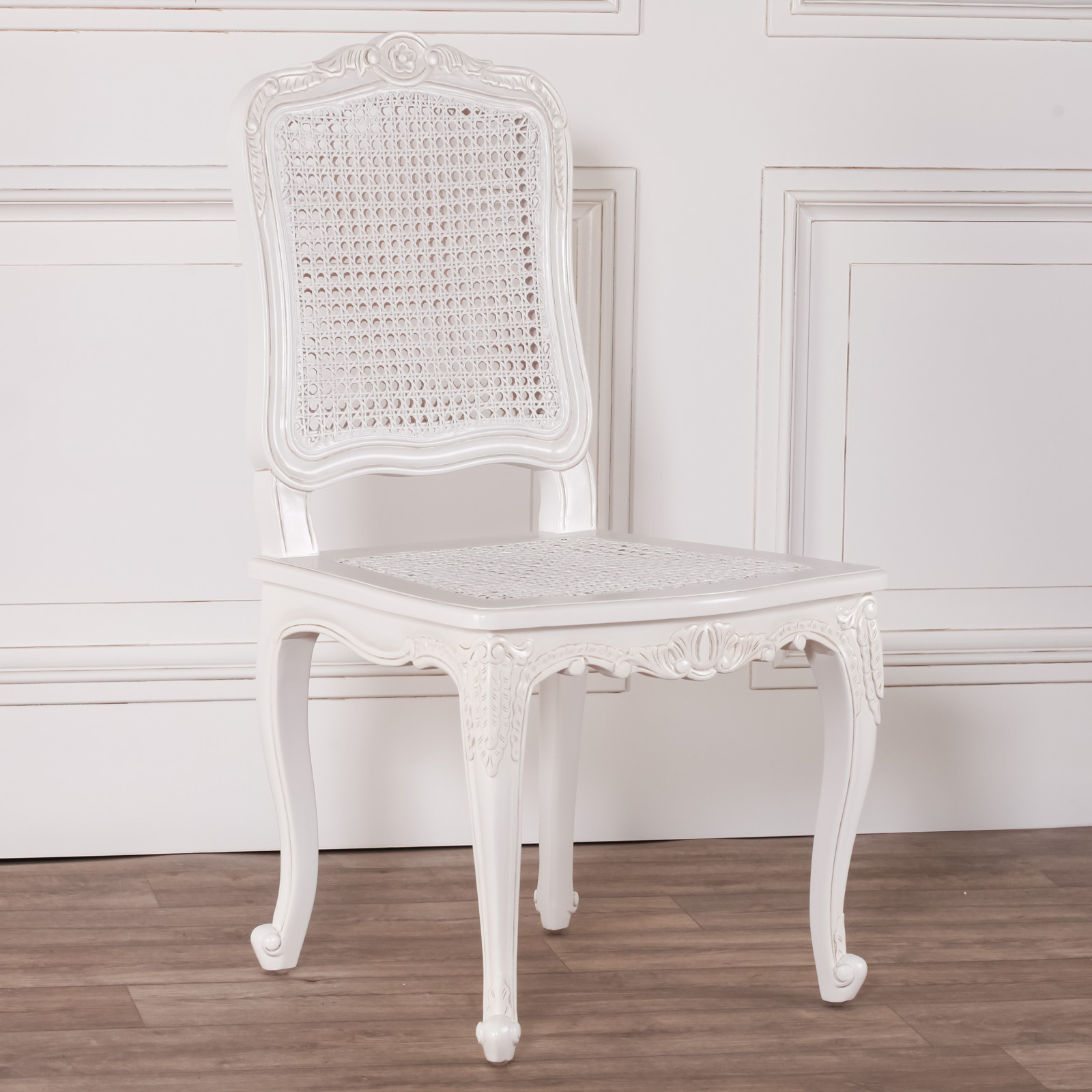 White Rattan Dining / Bedroom Chair