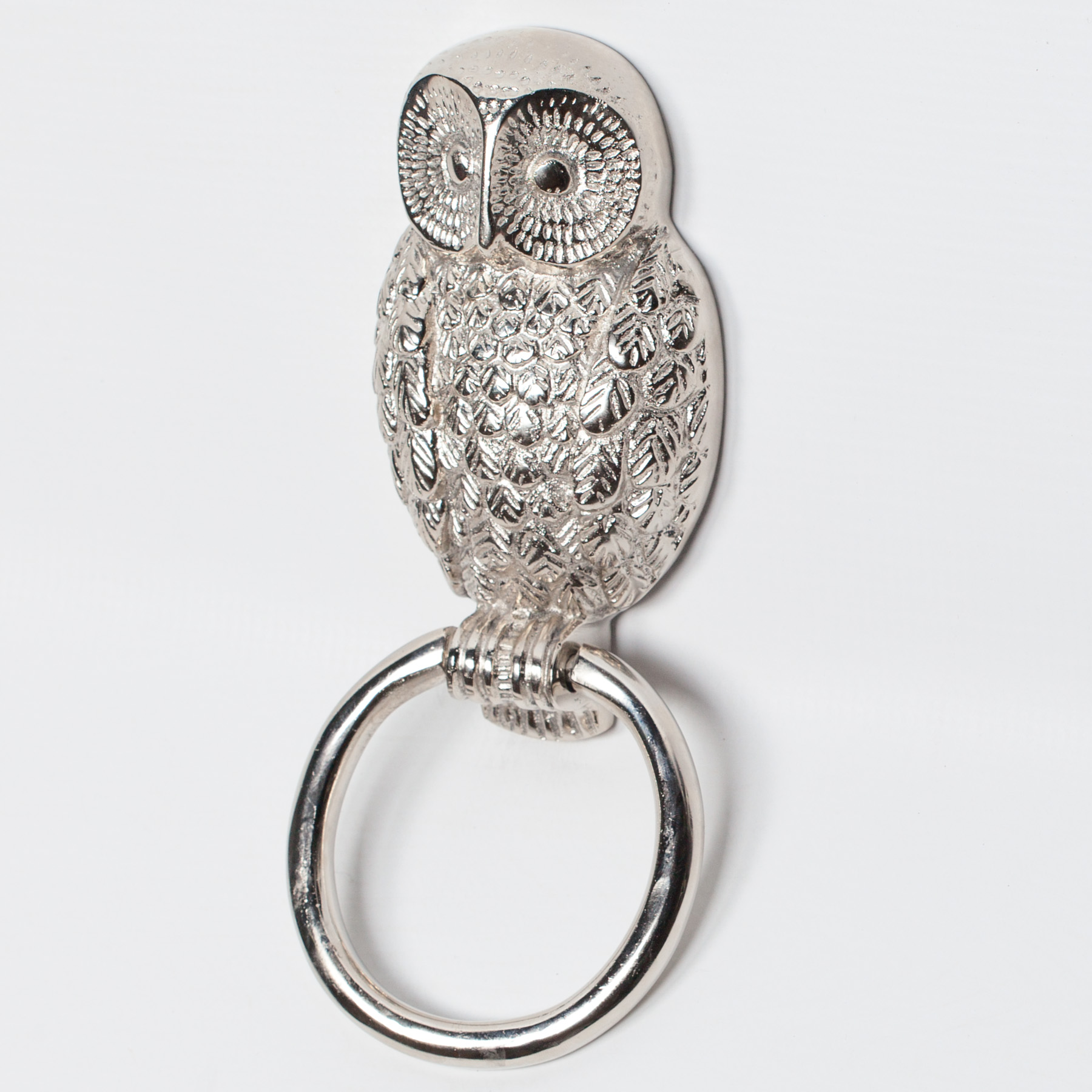 Chrome Owl Door Knocker