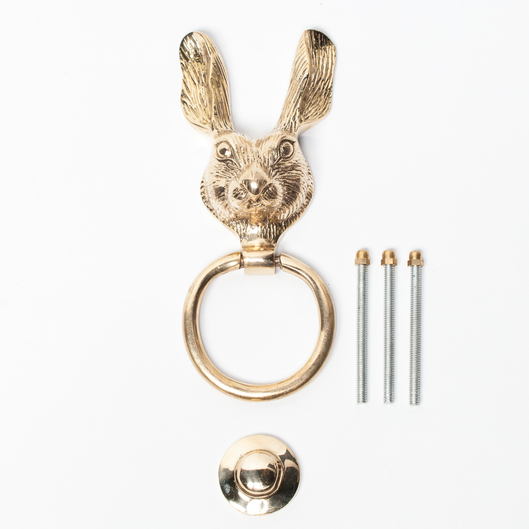 Brass Rabbit Door Knocker