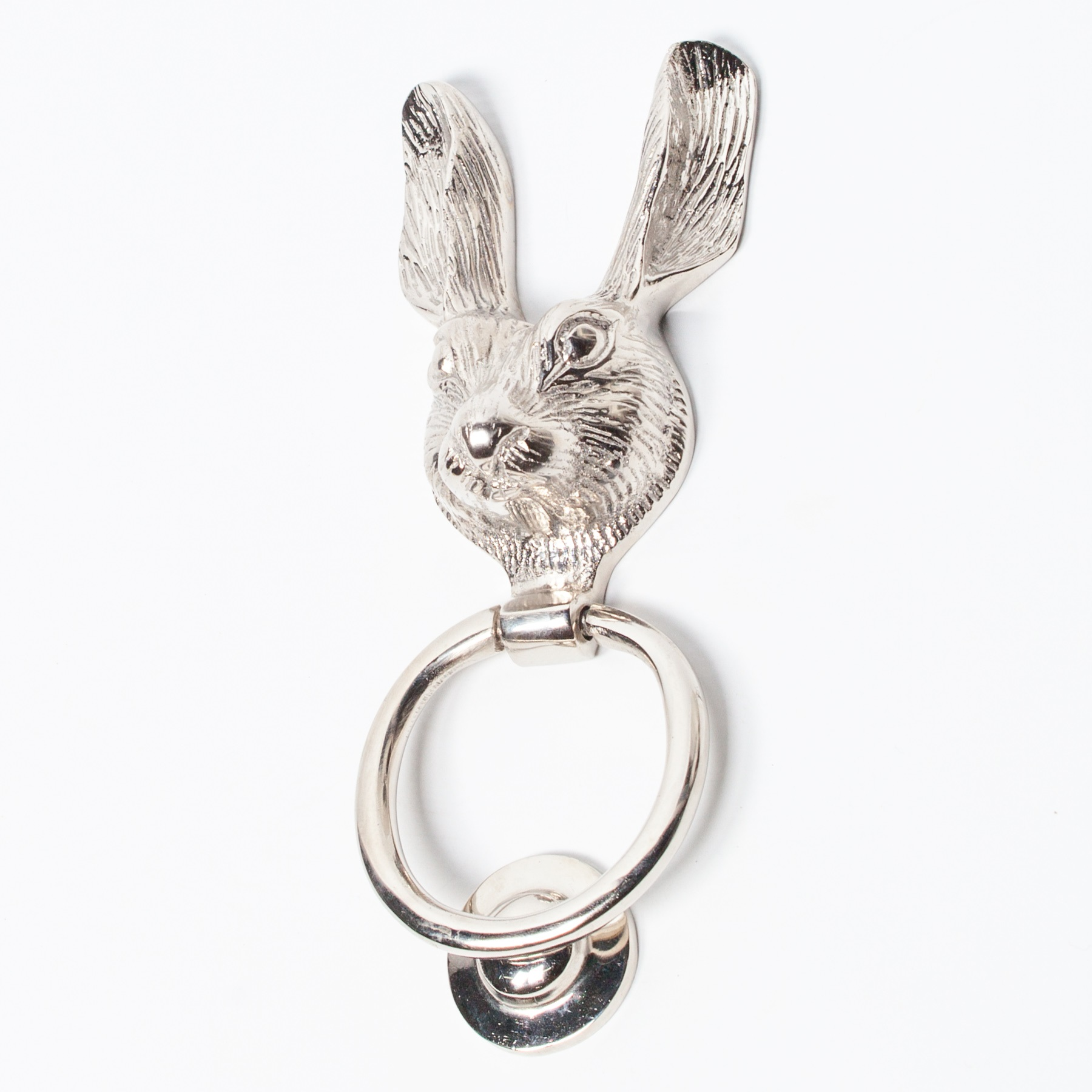 Chrome Rabbit Door Knocker