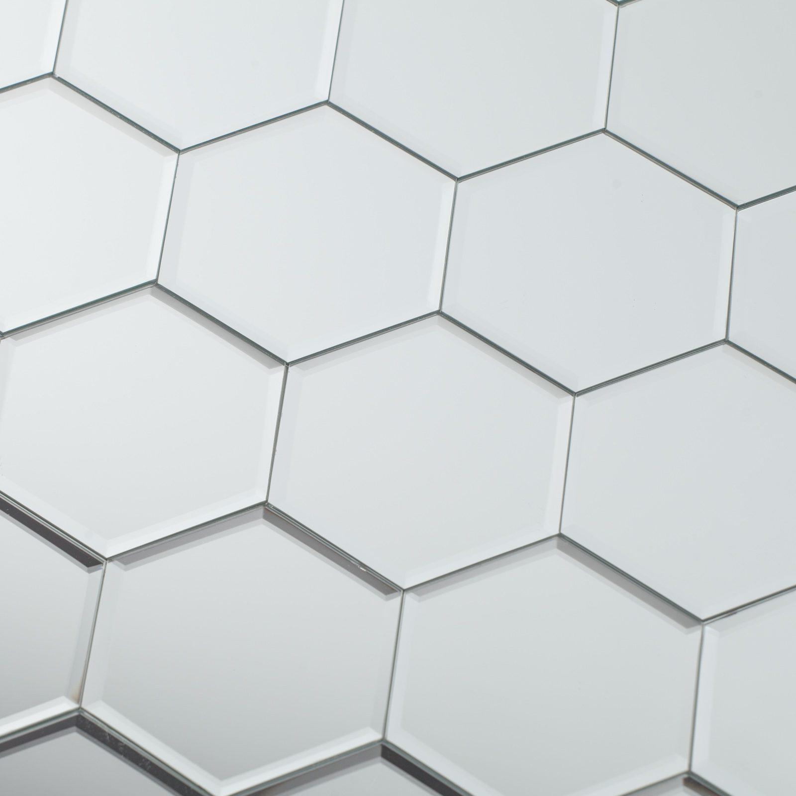 Hexagon Mirror Wall Tiles