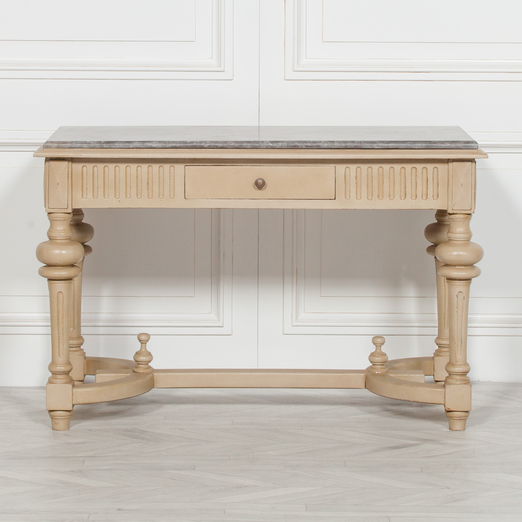 Distressed Console with Stone Top