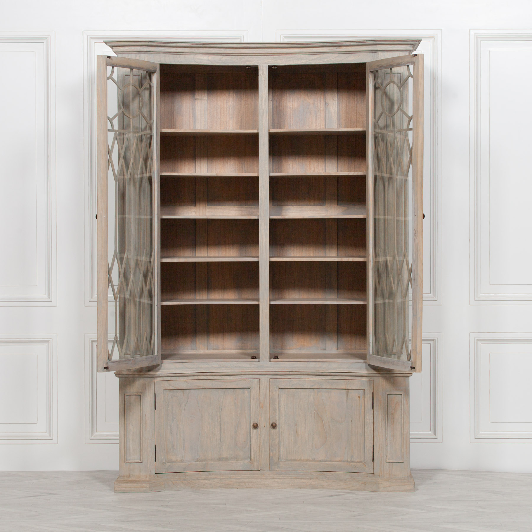 Concave Wooden Display Cabinet