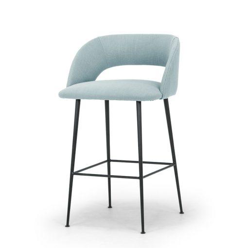 Mayford Bar Stool – Blue Linen