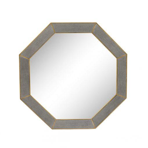 Hascombe Mirror, Octagon – Grey Shagreen