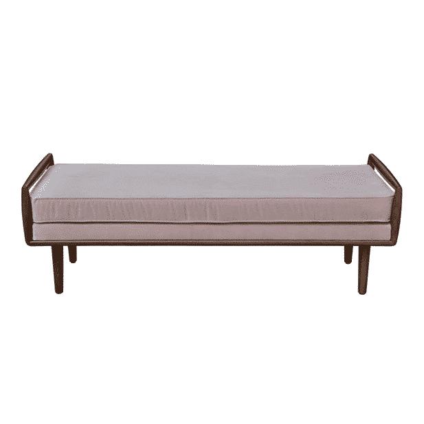Tandridge Ottoman – Pink Velvet