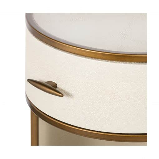 Hascombe Bedside – Small Round Ivory