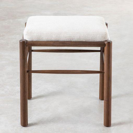 Bletchingley Stool – Neutral Fabric