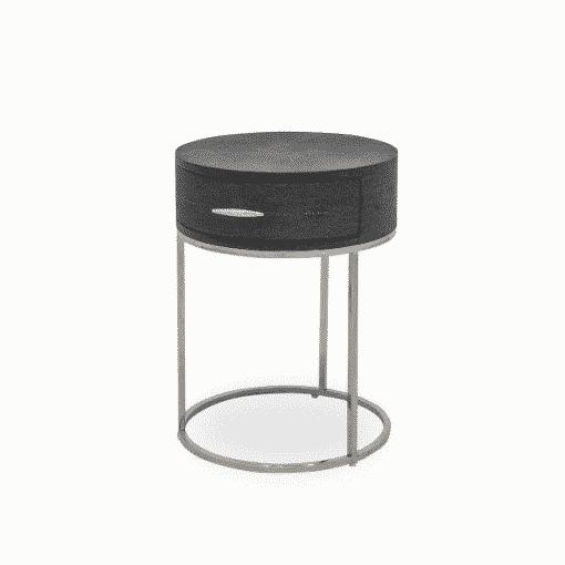 Hascombe Bedside – Black Shagreen