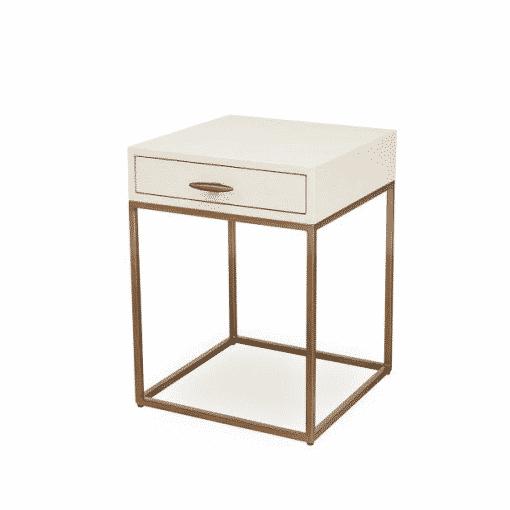 Hascombe Bedside – Ivory Shagreen