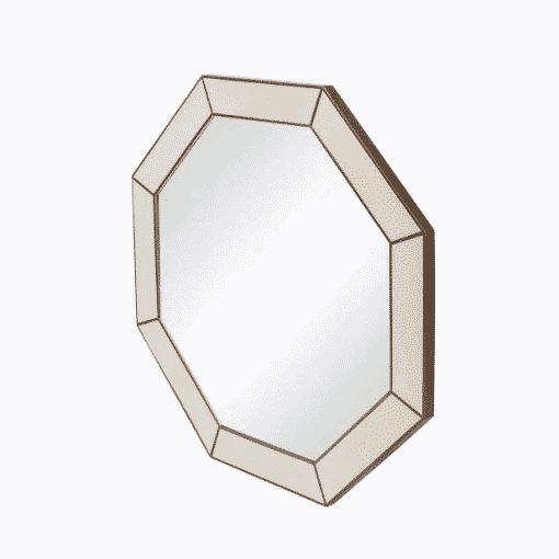 Hascombe Mirror, Octagon – Ivory Shagreen