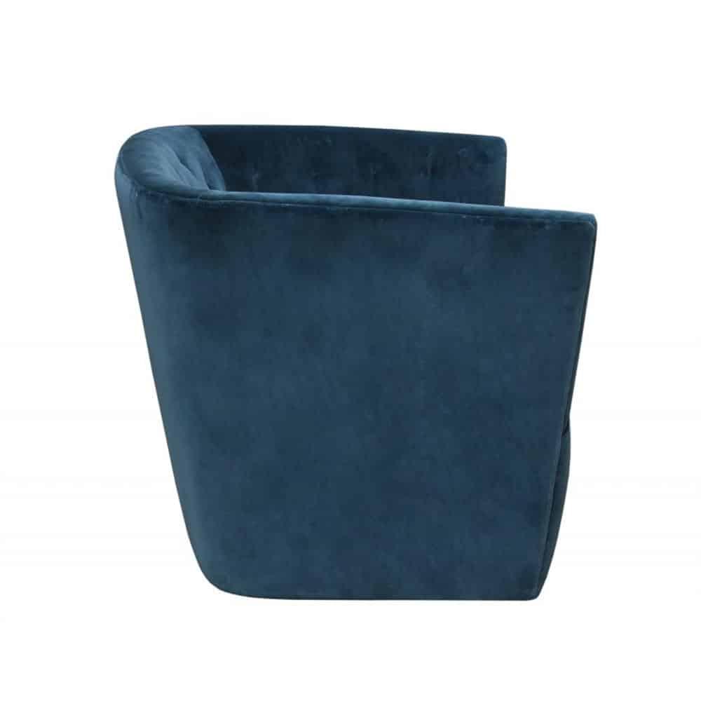 Shackleford Swivel Chair – Petrol Velvet