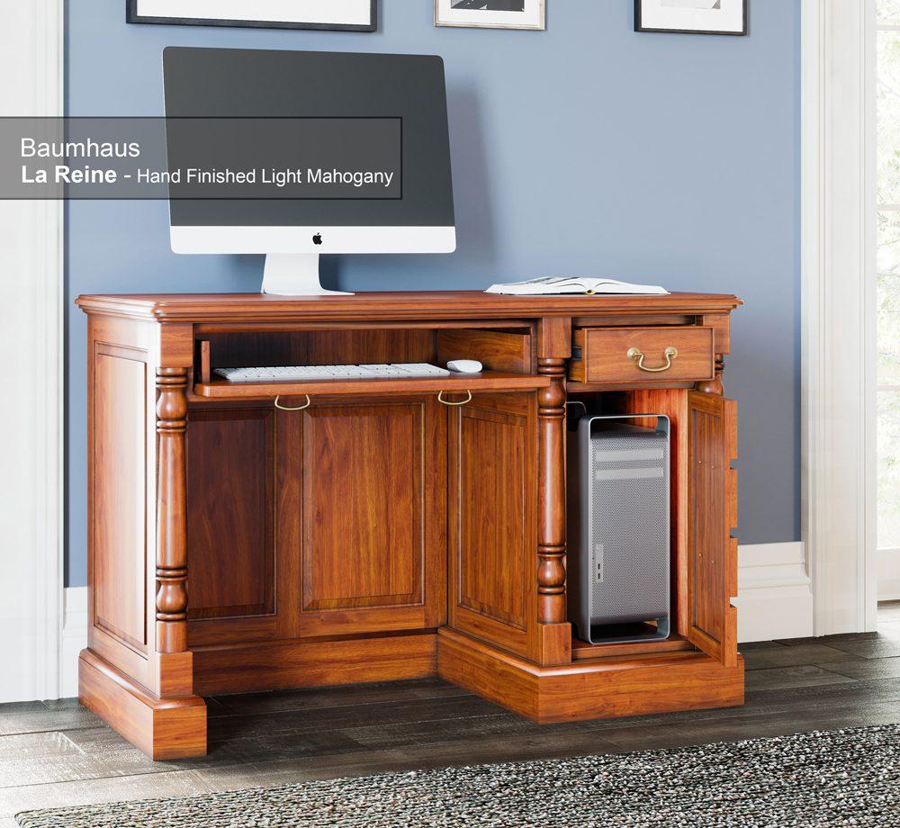 La Reine Single Pedestal Computer Desk