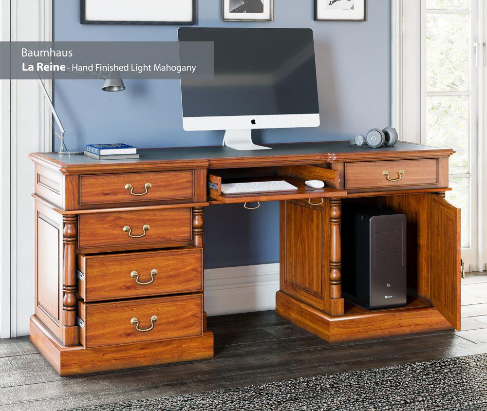 La Reine Twin Pedestal Computer Desk