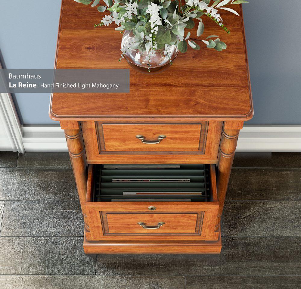 La Reine Two Drawer Filing Cabinet