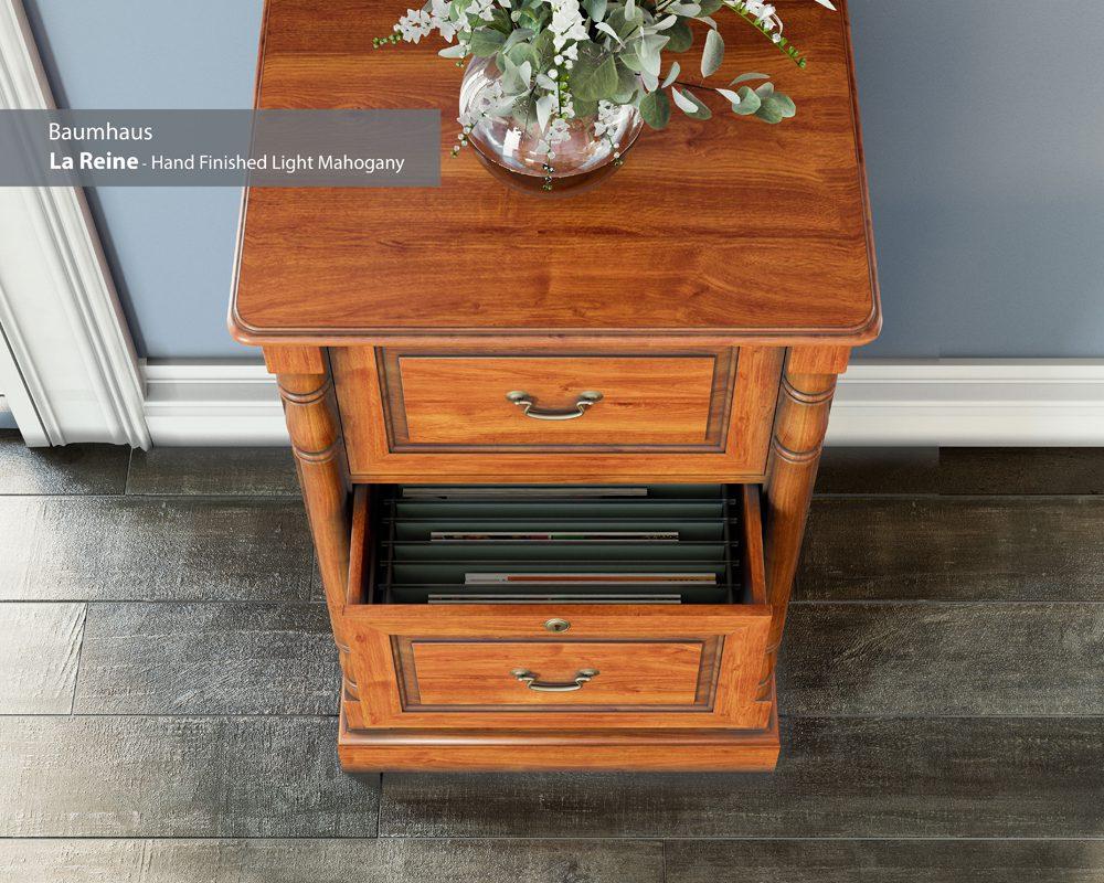 La Reine Three Drawer Filing Cabinet