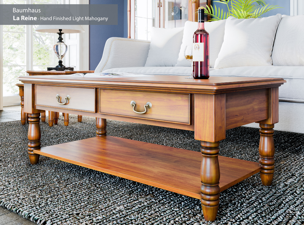 La Reine Coffee Table with Drawers