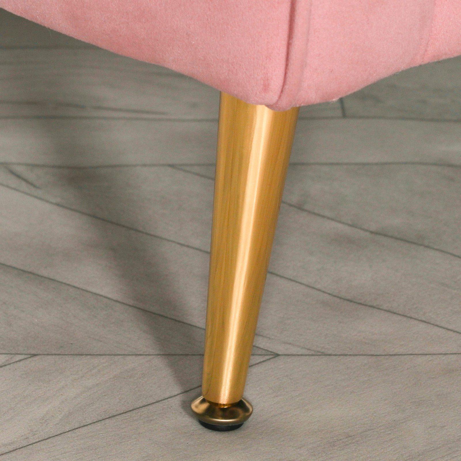 Pink Velvet Armchair with Cushion