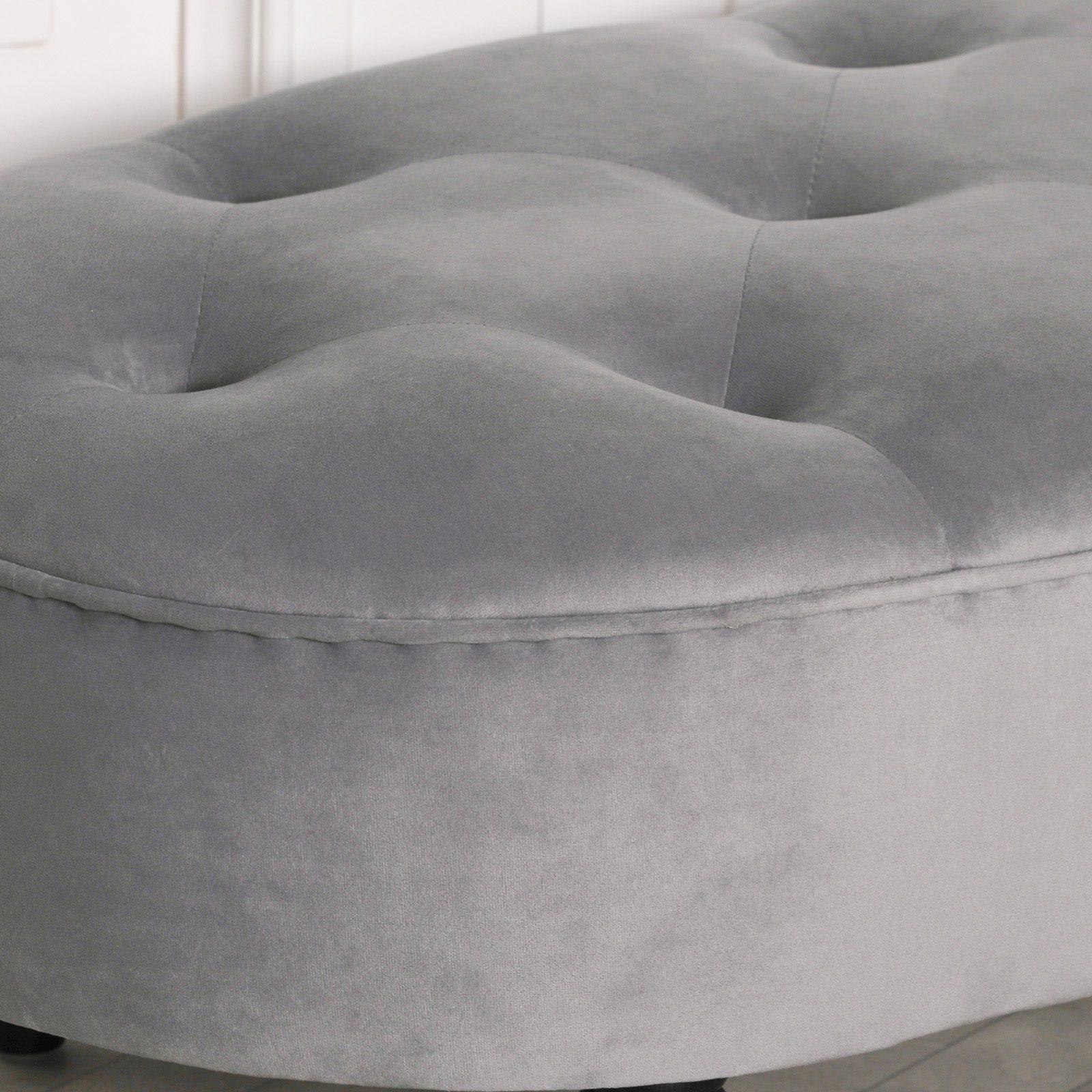 Grey Velvet Bench