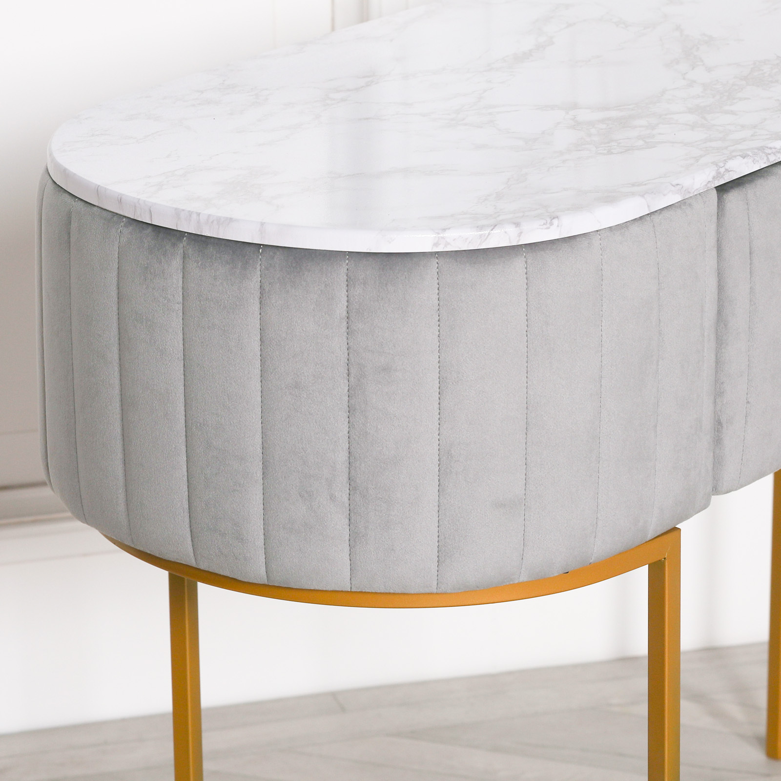 Grey Upholstered Dressing Table