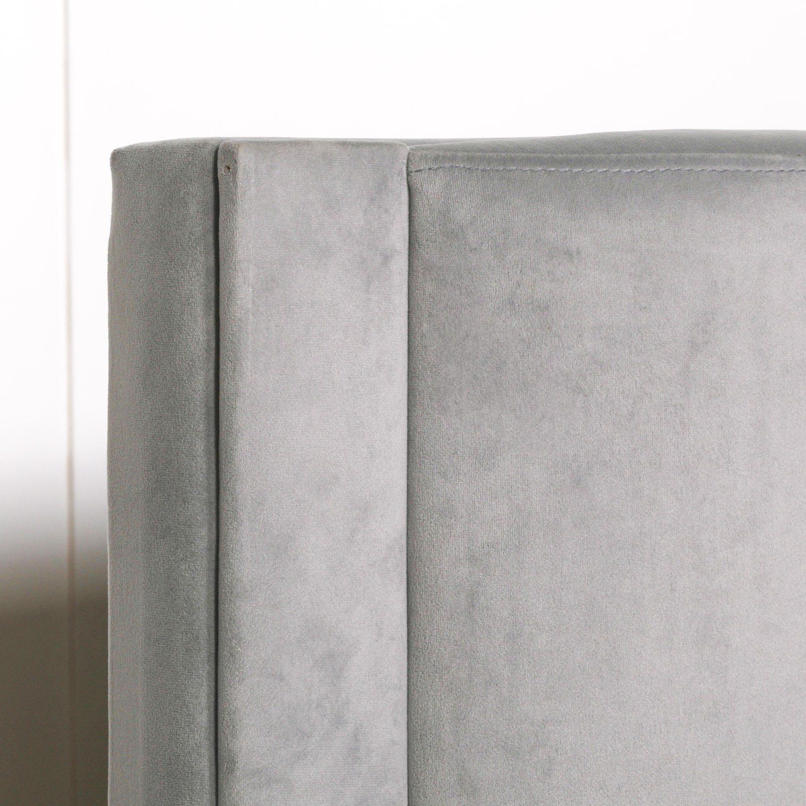 Grey Velvet King Size 5ft Bed