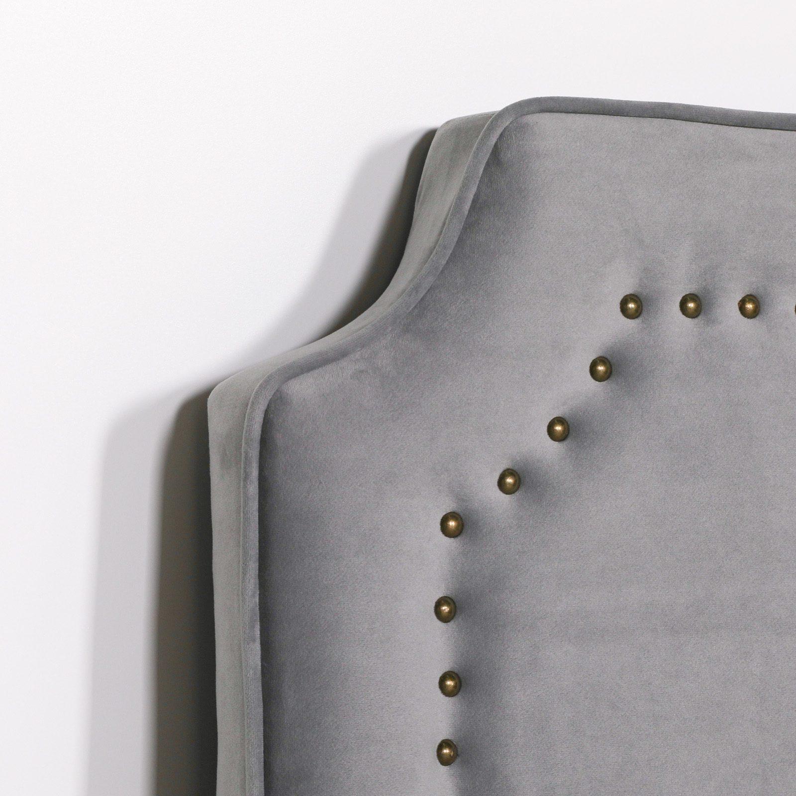 Grey Velvet 5ft King Size Headboard