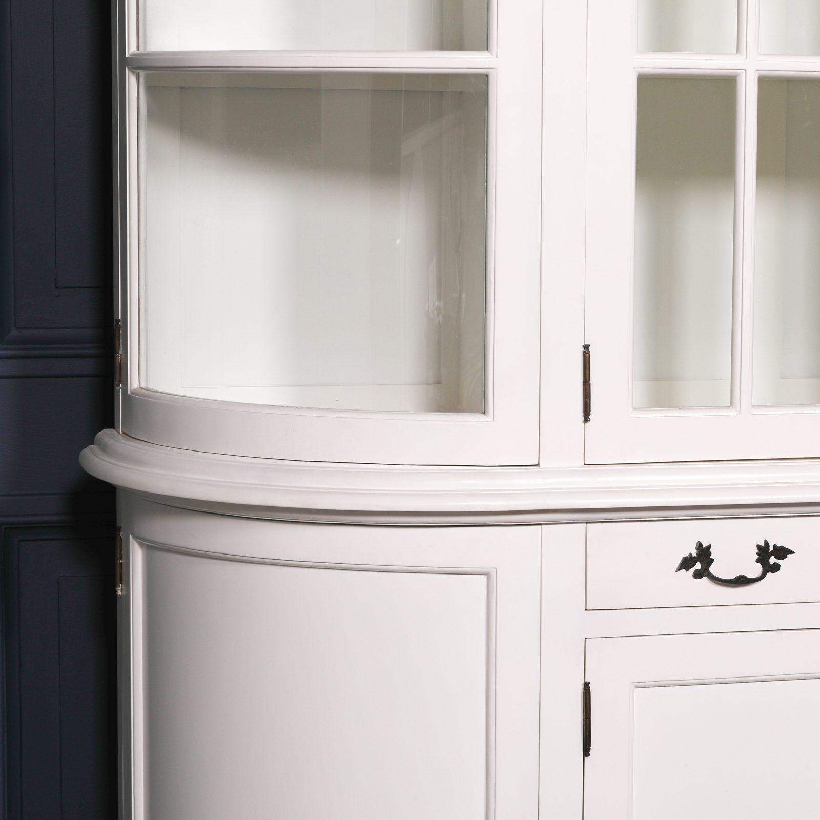 Large White Dresser Display Cabinet