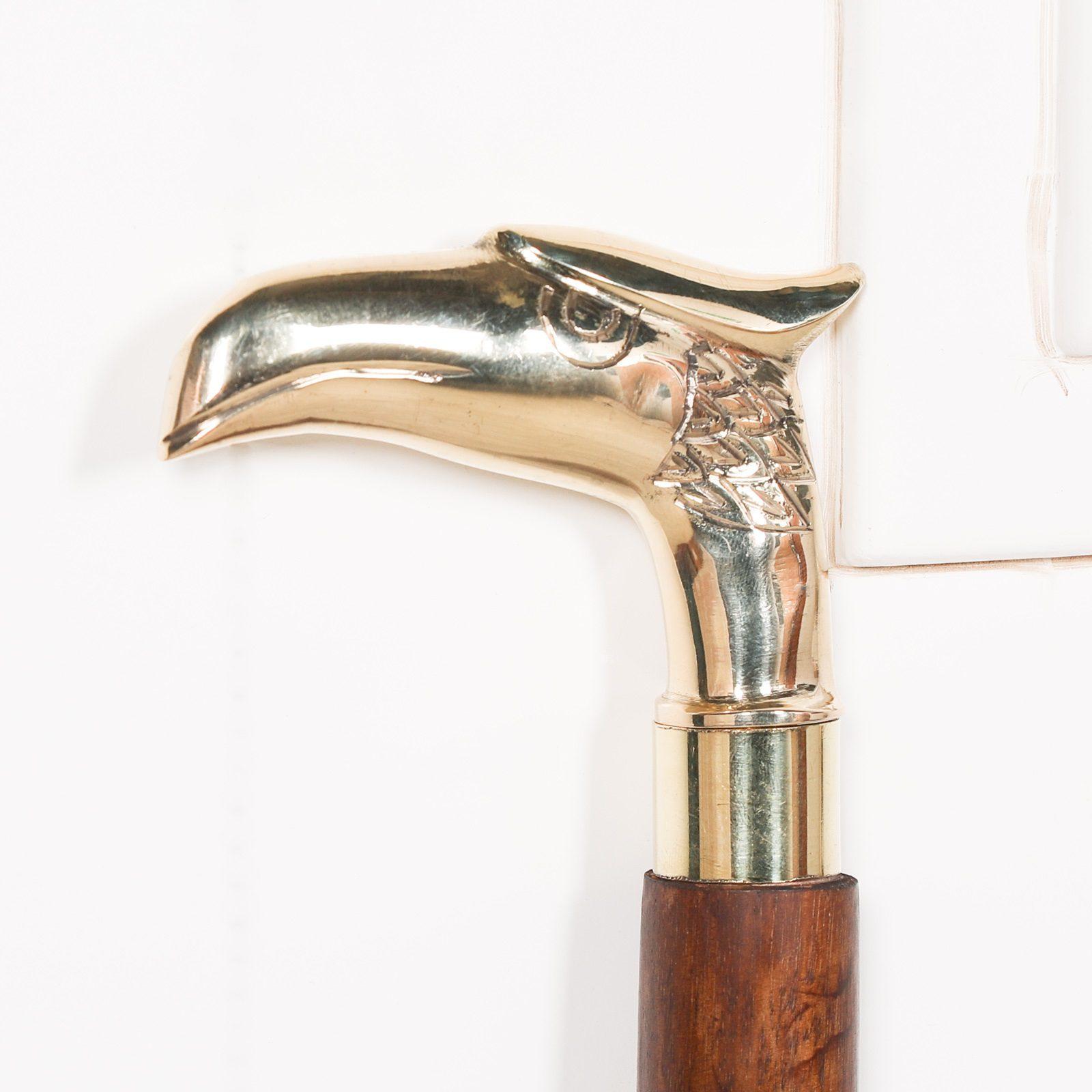 Eagle Brass Wooden Walking Stick