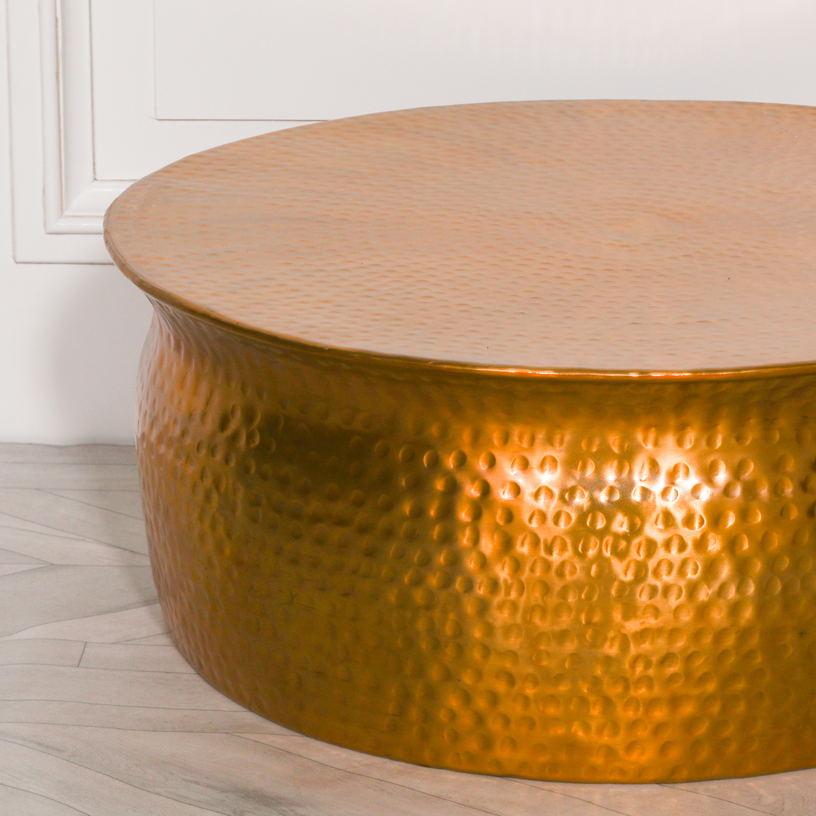 Gold / Brass Style Round Coffee Table