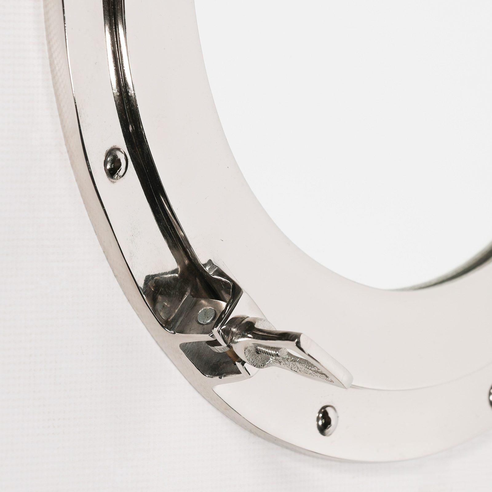 Large Polished Port Hole Mirror