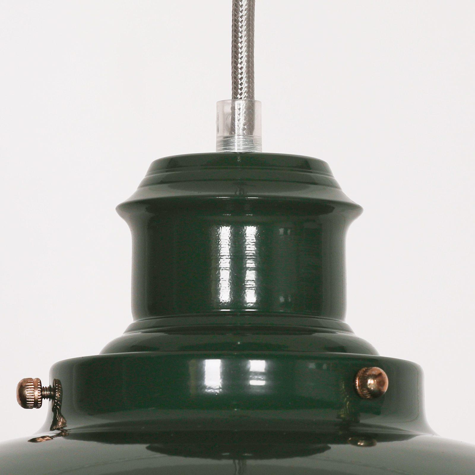 British Green Enamel Painted Fishermans Light