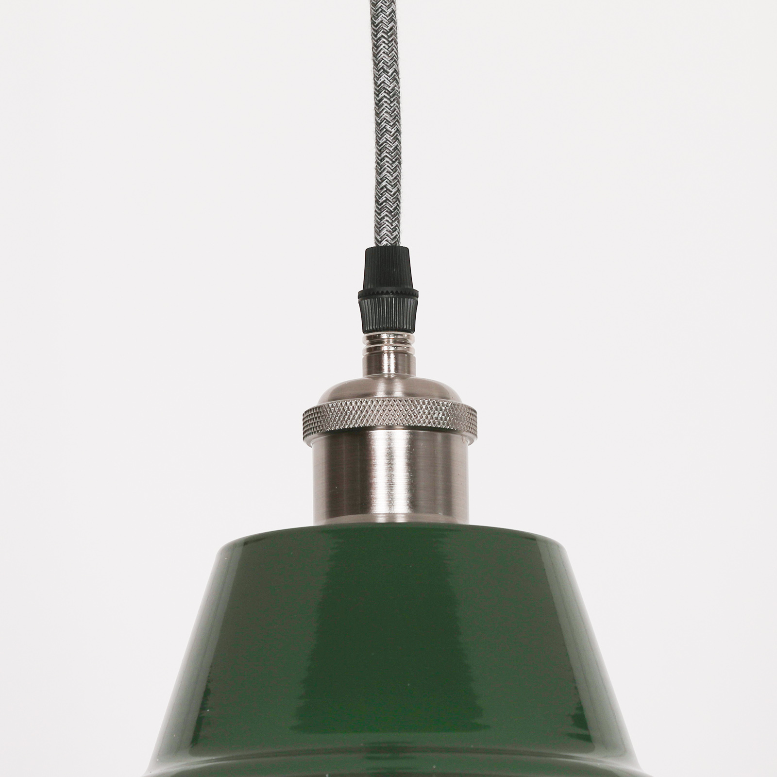 Factory Style British Green Enamel Painted 36cm Pendant Light