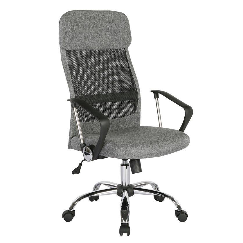 Chord operator chair with mesh back and headrest